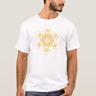 Metatron Cube Gold T-Shirt