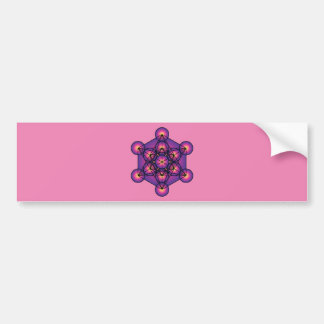Metatron's Cube Bumper Sticker