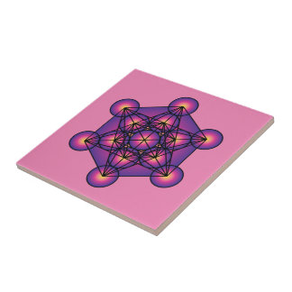 Metatron's Cube Ceramic Tile