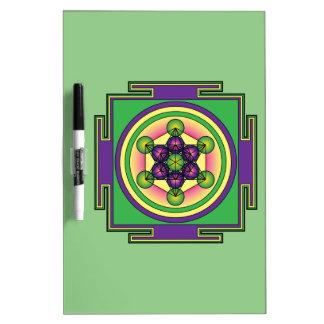 Metatron's Cube Mandala Dry Erase Board