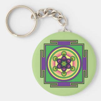 Metatron's Cube Mandala Keychain