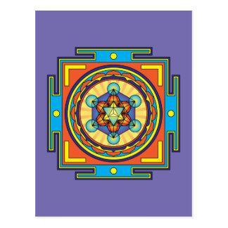 Metatron's Cube Mandala Postcard