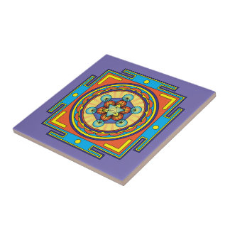 Metatron's Cube Mandala Tile