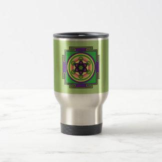 Metatron's Cube Mandala Travel Mug