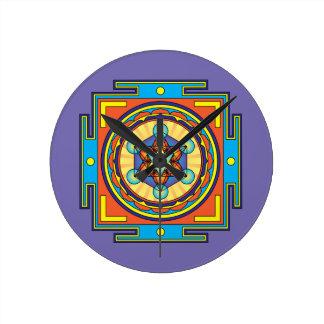 Metatron's Cube Mandala Wall Clock