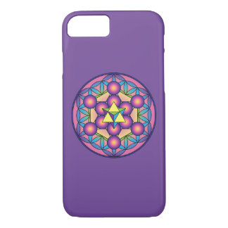 Metatron's Cube Merkaba on Flower of life iPhone 8/7 Case