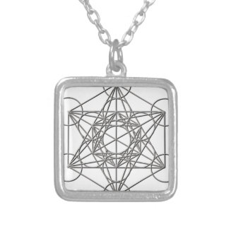 Metatron Silver Shadow Silver Plated Necklace