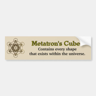 Metatron's Cube bumper sticker