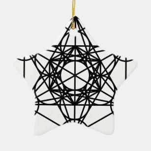 Metatrons Cube Ceramic Ornament