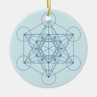 Metatron's Cube Ceramic Ornament