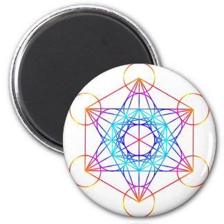 Metatron's Cube (Color 2) 2 Inch Round Magnet