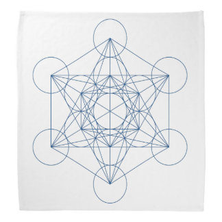 Metatron's Cube Crystal Grid Cloth Bandana