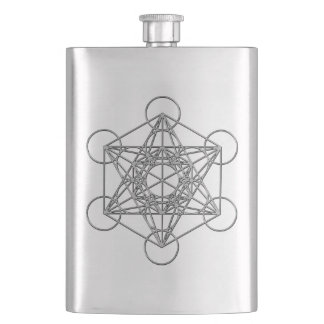 Metatrons Cube Hip Flask