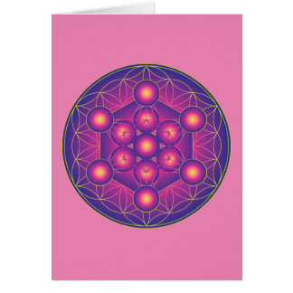 Metatron's Cube in Flower of life Card