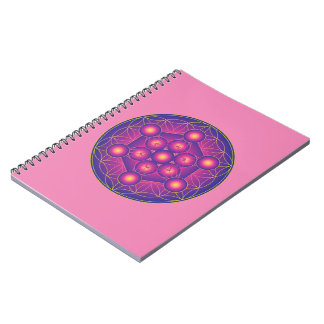 Metatron's Cube in Flower of life Notebook