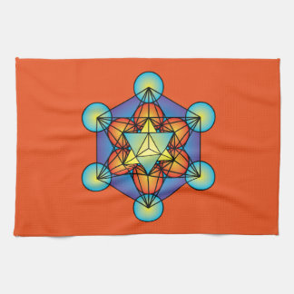 Metatron's Cube Merkaba Kitchen Towel