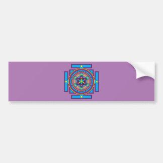 Metatron's Cube Merkaba Mandala Bumper Sticker