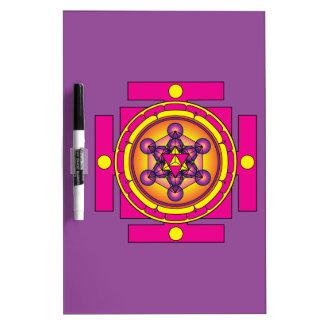Metatron's Cube Merkaba Mandala Dry Erase Board