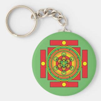 Metatron's Cube Merkaba Mandala Keychain