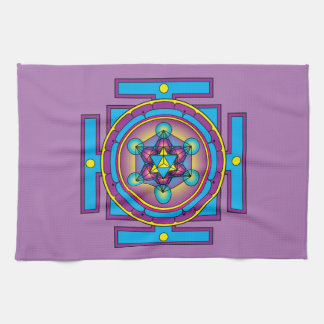 Metatron's Cube Merkaba Mandala Kitchen Towel