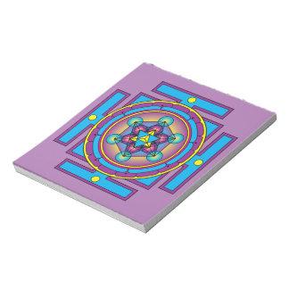Metatron's Cube Merkaba Mandala Notepad