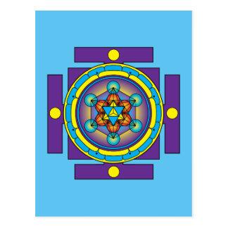 Metatron's Cube Merkaba Mandala Postcard