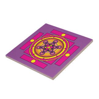 Metatron's Cube Merkaba Mandala Tile