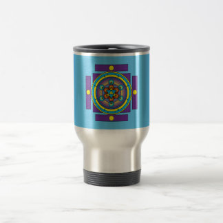 Metatron's Cube Merkaba Mandala Travel Mug