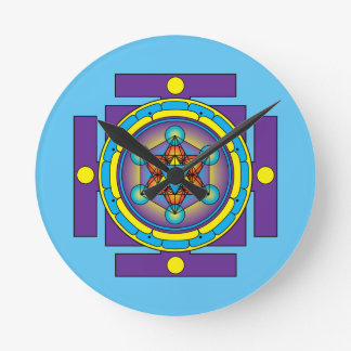 Metatron's Cube Merkaba Mandala Wall Clocks