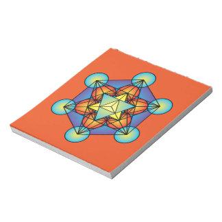 Metatron's Cube Merkaba Notepad
