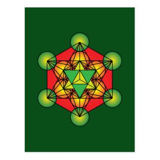 Metatron's Cube Merkaba Postcard
