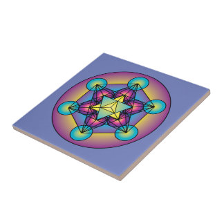 Metatron's Cube Merkaba Tile