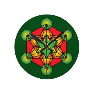Metatron's Cube Merkaba Wallclock