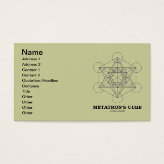 Metatron's Cube (Sacred Geometry) Business Card