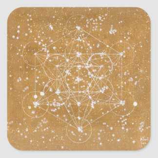 Metatron's Cube Stecker Square Sticker