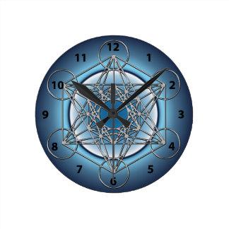 Metatrons Cube Wall Clocks