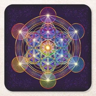 Metatron's Cube with Flower of Life Coaster