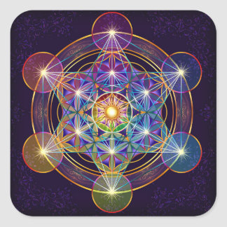 Metatron's Cube with Flower of Life Sticker