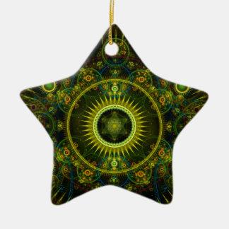 """Metatron's Magick Wheel"" - Fractal Art Ceramic Ornament"