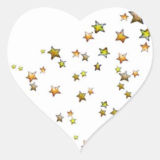 Meteor Heart Sticker