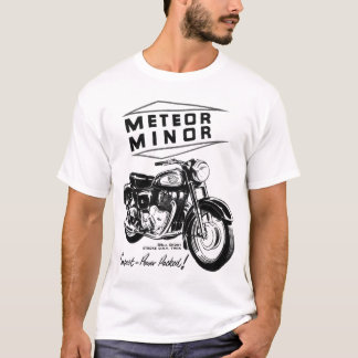 Meteor Minor UK Vintage Motorcycle Ad T-Shirt