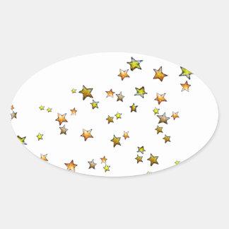 Meteor Oval Sticker