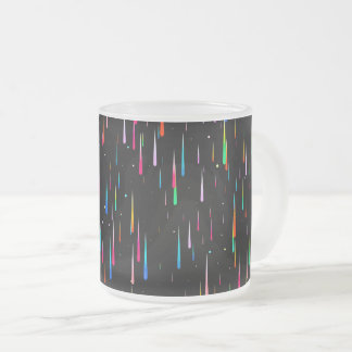 Meteor Rain Frosted Glass Coffee Mug