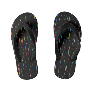 meteor rain kid's flip flops