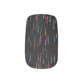 meteor rain minx nail art