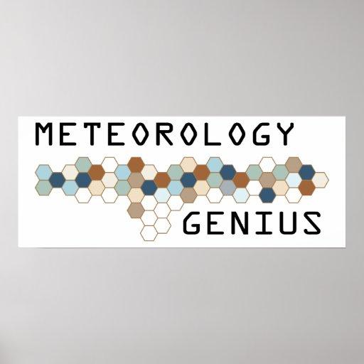 Meteorology Genius Print