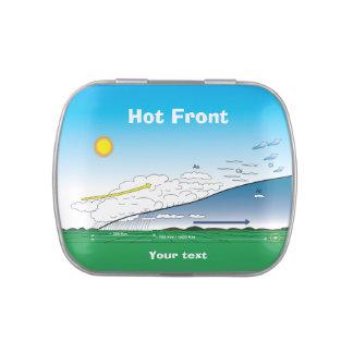 Meteorology Hot front
