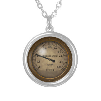 meter1 silver plated necklace