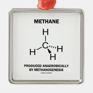Methane Produced Anaerobically By Methanogenesis Metal Ornament