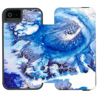 Methylene Blue Abstract Cell Incipio Watson™ iPhone 5 Wallet Case